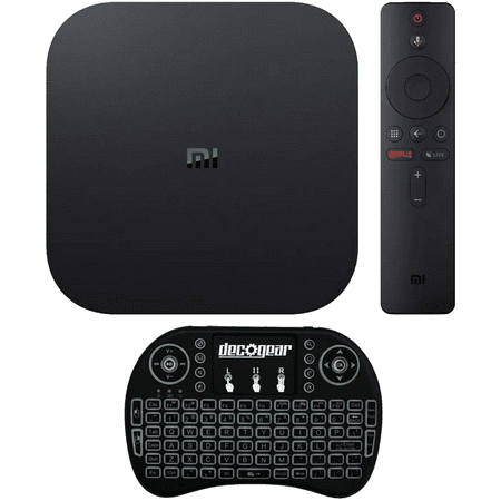 Xiaomi Mi Box S 4K Android TV Streaming Media Player with Deco Gear Wireless Keyboard