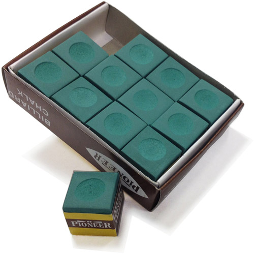 Hathaway Green Billiard Pool Cue Chalk, 12pk