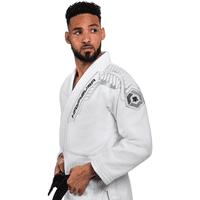 Hayabusa Warrior Gold Weave Jiu Jitsu Gi, White A0