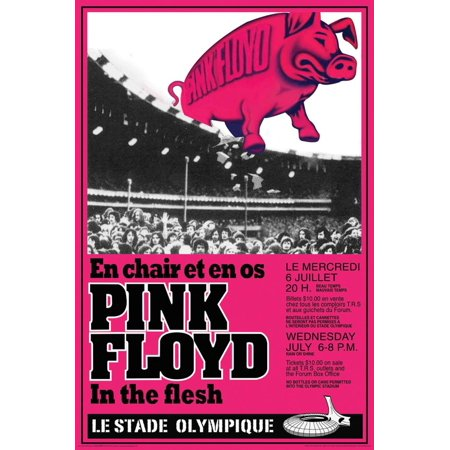 Pink Floyd Concert Poster - 24x36