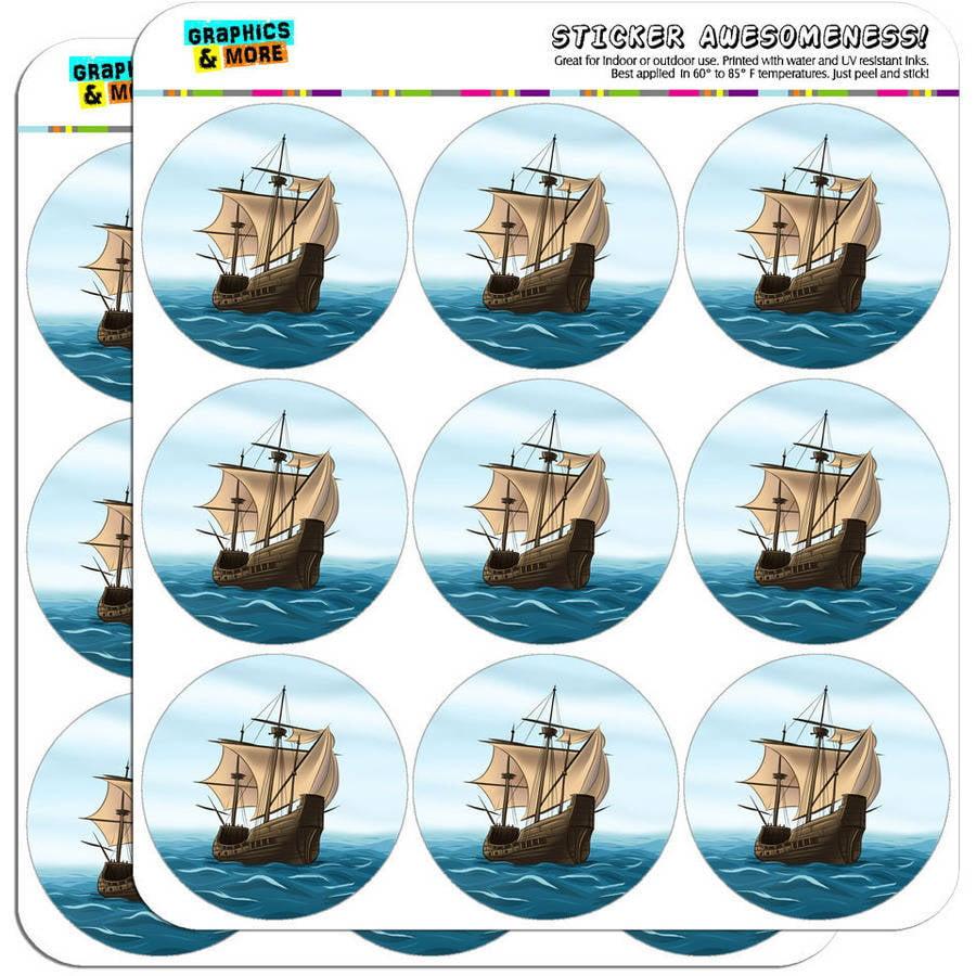 "Pirate Ship Sail Boat Ocean 18 2"" Planner Calendar Scrapbooking Crafting Stickers"