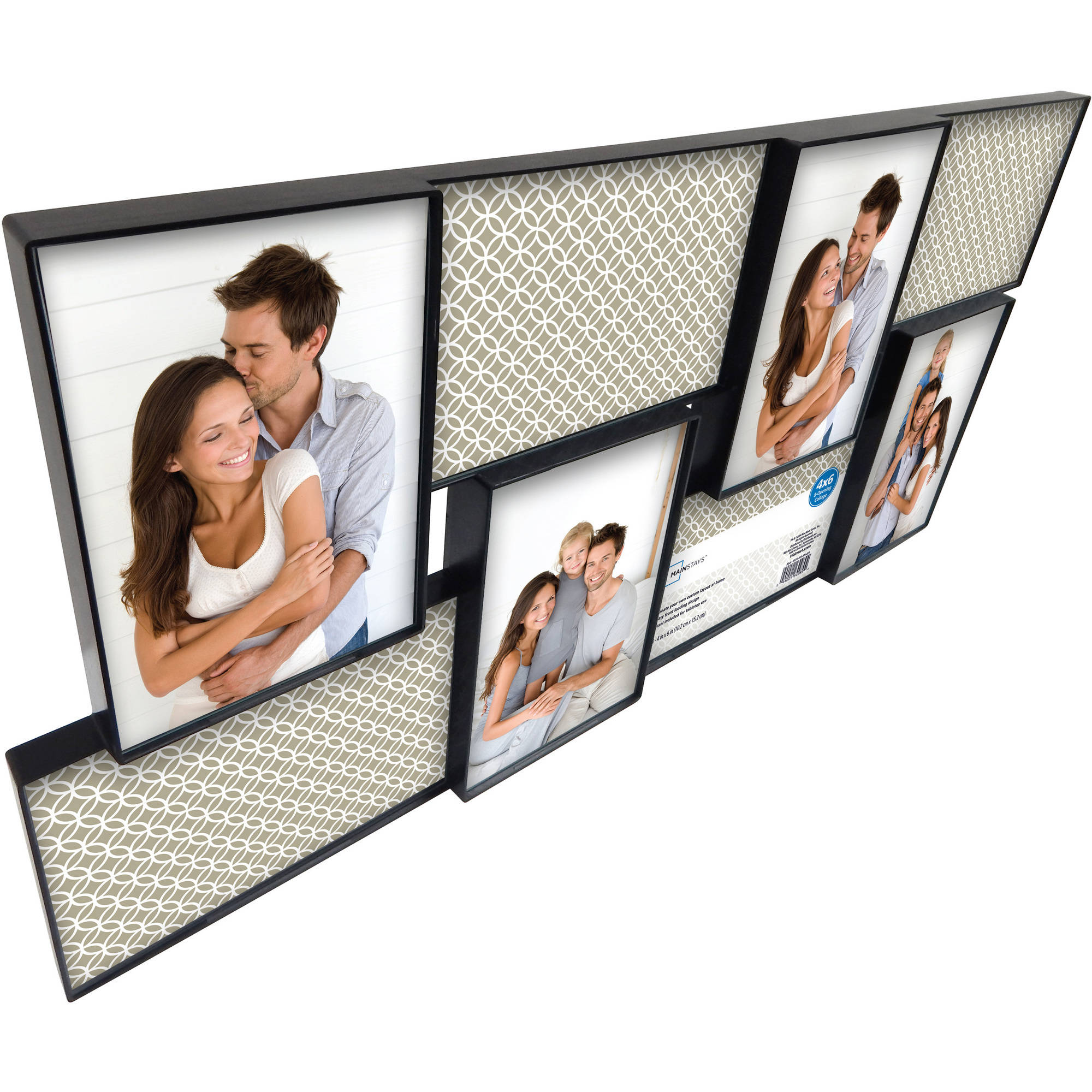 Mainstays 8-Open 4x6 Collage Format Picture Frame, Set of 2 ...