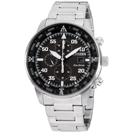 Citizen Eco Drive Black Dial Stainless Steel Men