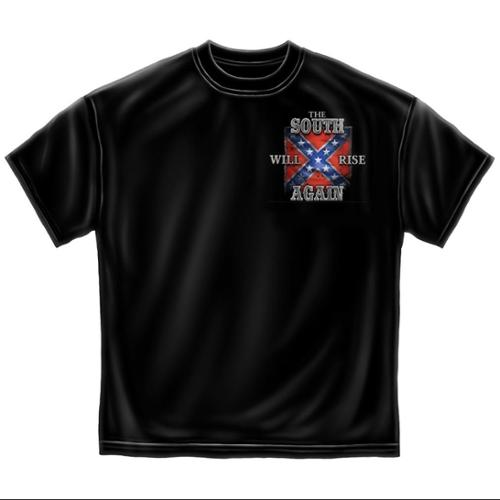 Novelty Men's  Rebel Glory T-shirt Black