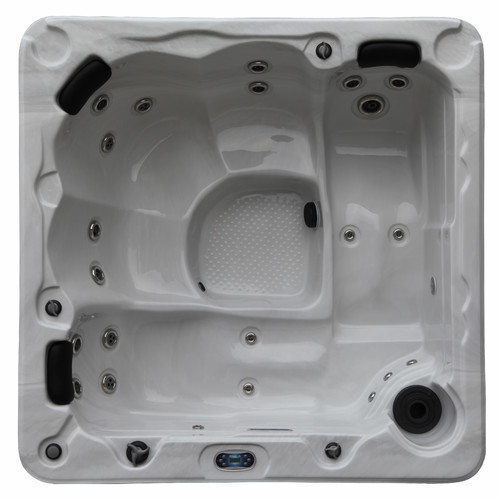 Canadian Spa Co Hamilton 6-Person 22-Jet Plug and Play Spa with Waterfall by Canadian Spa Co