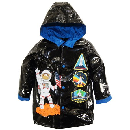 Wippette Toddler Boys Rainwear Astronaut Space Traveler Raincoat Jacket (Kids Rain Apparel)