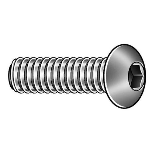 Camcar Button Head Socket Head Cap Screw, 100-pack, BHSD0100038CP-PK100