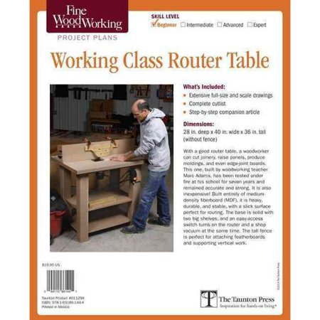 Fine woodworking working class router table plan walmart fine woodworking working class router table plan keyboard keysfo Choice Image