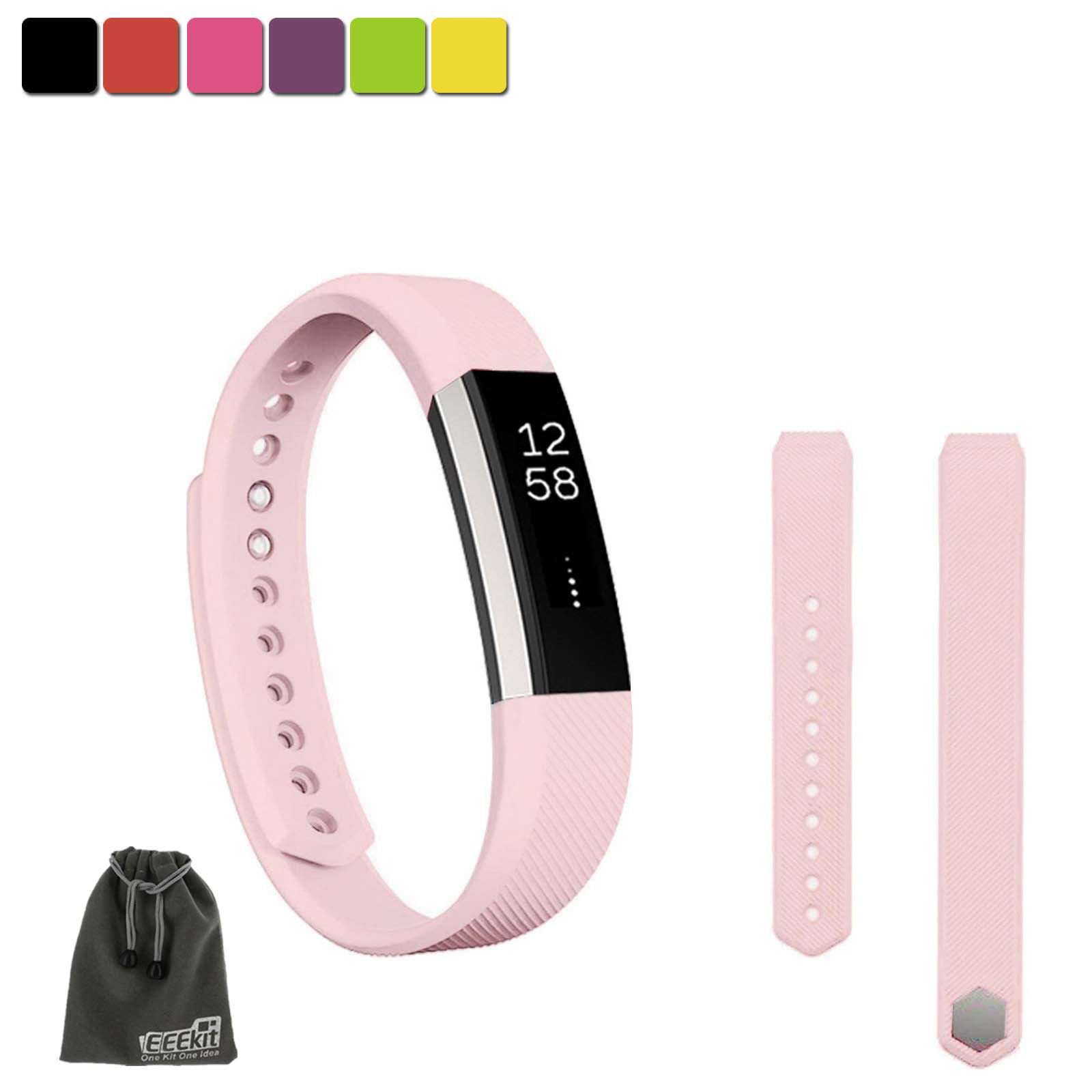 EEEKit SMALL S Size Silicone Replacement Sports Watch Wrist Band Strap w/ Clasp for Fitbit ...