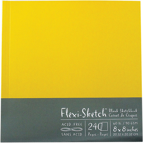 "Flexi-Sketch Blank Sketch Book 8"" x 8"", 120 Pages, Butternut"