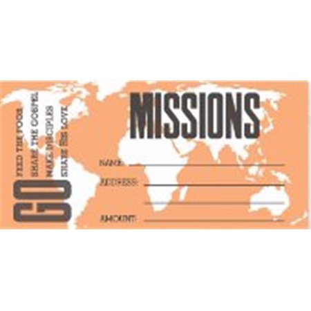 Swanson Christian Supply 135759 Missions Offering Envelope - Pack of 100 - image 1 of 1