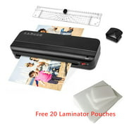 Laminator Machine, 3-in-1 A4 Thermal Laminator Machine with 20 Laminating Pouches Sheets, Paper Trimmer, Corner Rounder, Portable Thermal Laminating Machine for Home Office School