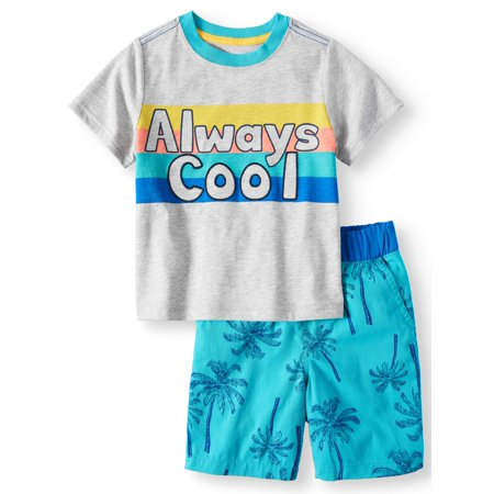 Wonder Nation T-Shirt & Shorts, 2pc Outfit Set (Toddler Boys) - Colonial Outfits