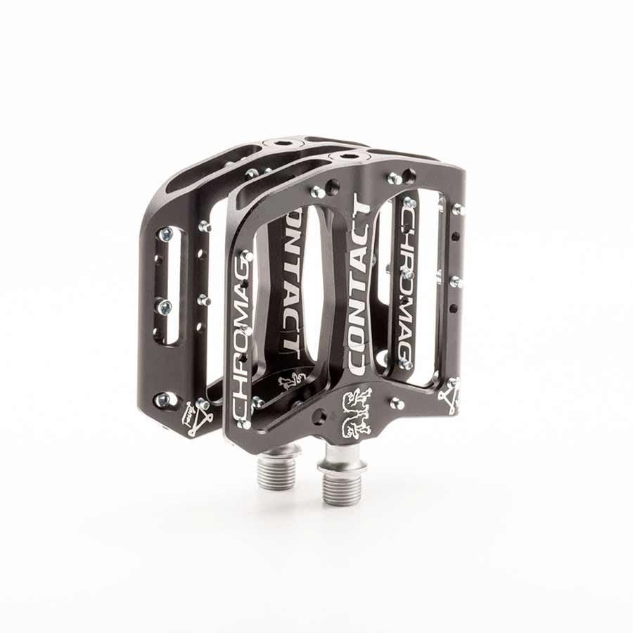 Chromag, Contact, Platform pedals, Bushing and sealed bearings, Aluminium body, Black
