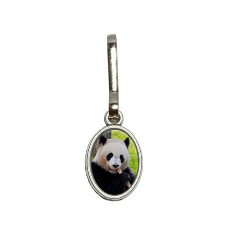Pvc Zipper Pulls (Panda Bear Endangered Oval Zipper Pull)