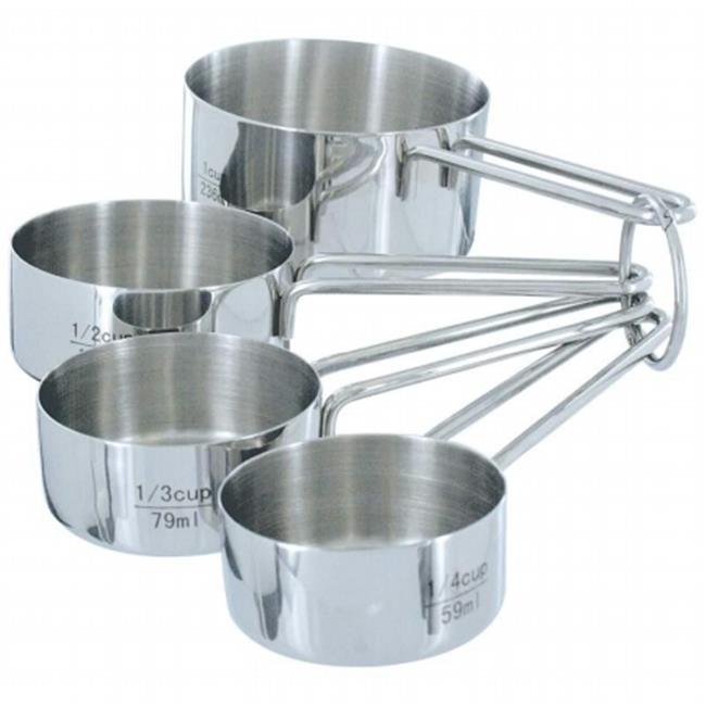 Chefs Secret T304 Stainless Steel 4pc Measuring Cup Set