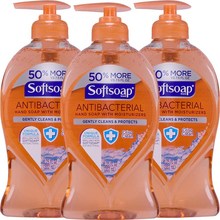 (3 Pack) Softsoap Antibacterial Liquid Hand Soap, Crisp and Clean - 11.25 fl oz