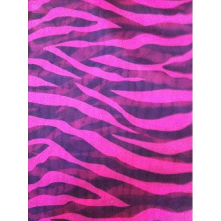 2 Piece Black Pink Zebra Sheer Window Curtains/drape/panels/treatment 60