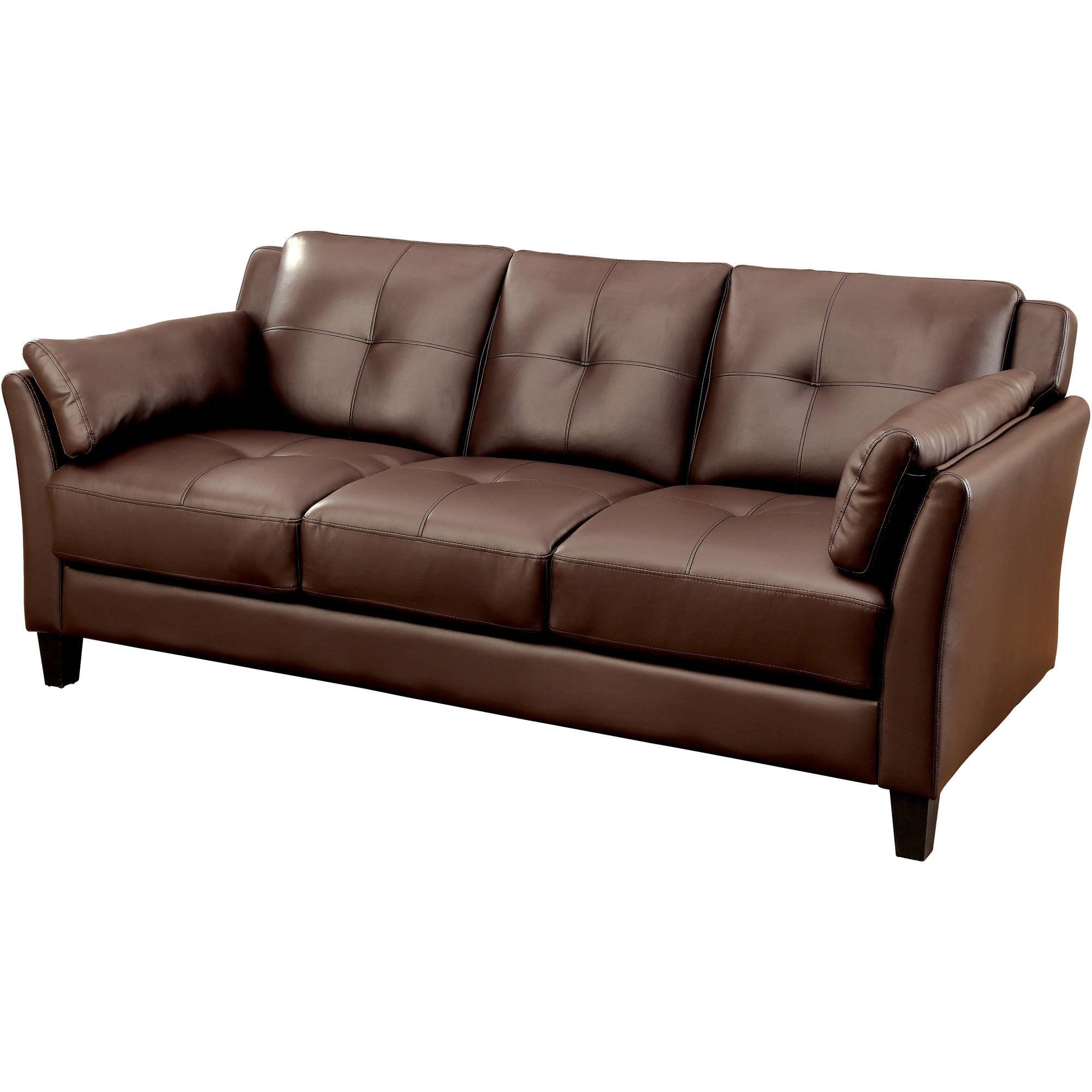 "Furniture of America Roseanne II Contemporary 75.5"" Sofa, Multiple Colors"
