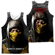 Mortal Kombat X - Finish Him (Front/Back Print) - Tank Top - Medium
