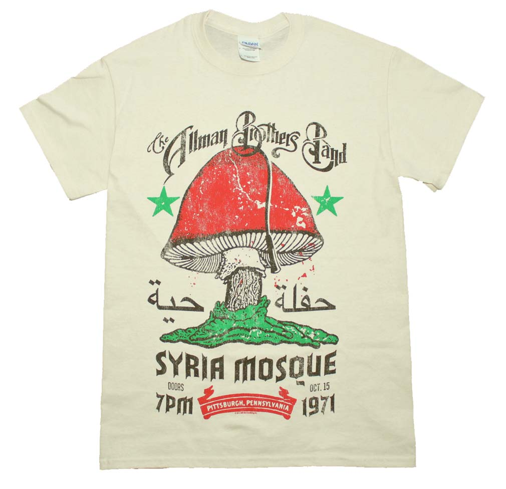 Allman Brothers Syria Mosque T-Shirt Medium