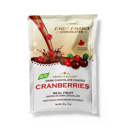 Andy Anand's Chocolates - Premium California Cranberries covered with Vegan Rich Dark Chocolate, All-Natural and certified Made from Natural Ingredients (2 Pack 3 -