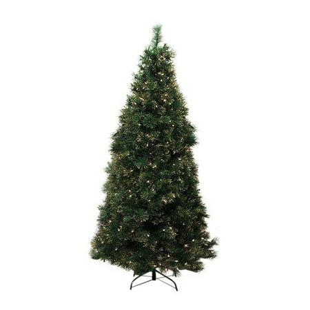 Northlight Christmas Central EQUINOX TTP-311-75 7.5-ft Pre-Lit Slim Tattinger Long Needle Pine Artificial Christmas Tree
