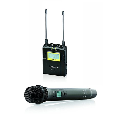 Saramonic RX10+HU10 96-Channel Digital UHF Wireless Handheld Microphone System - Includes HU10 Mic with Integrated Transmitter, Portable Receiver, Shoe Mount, XLR/3.5mm Outputs + More