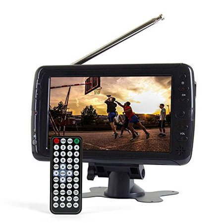 Tyler Ttv701 7  Portable Widescreen Lcd Tv With Detachable Antennas  Usb Sd Card Slot  Built In Digital Tuner  And Av Inputs