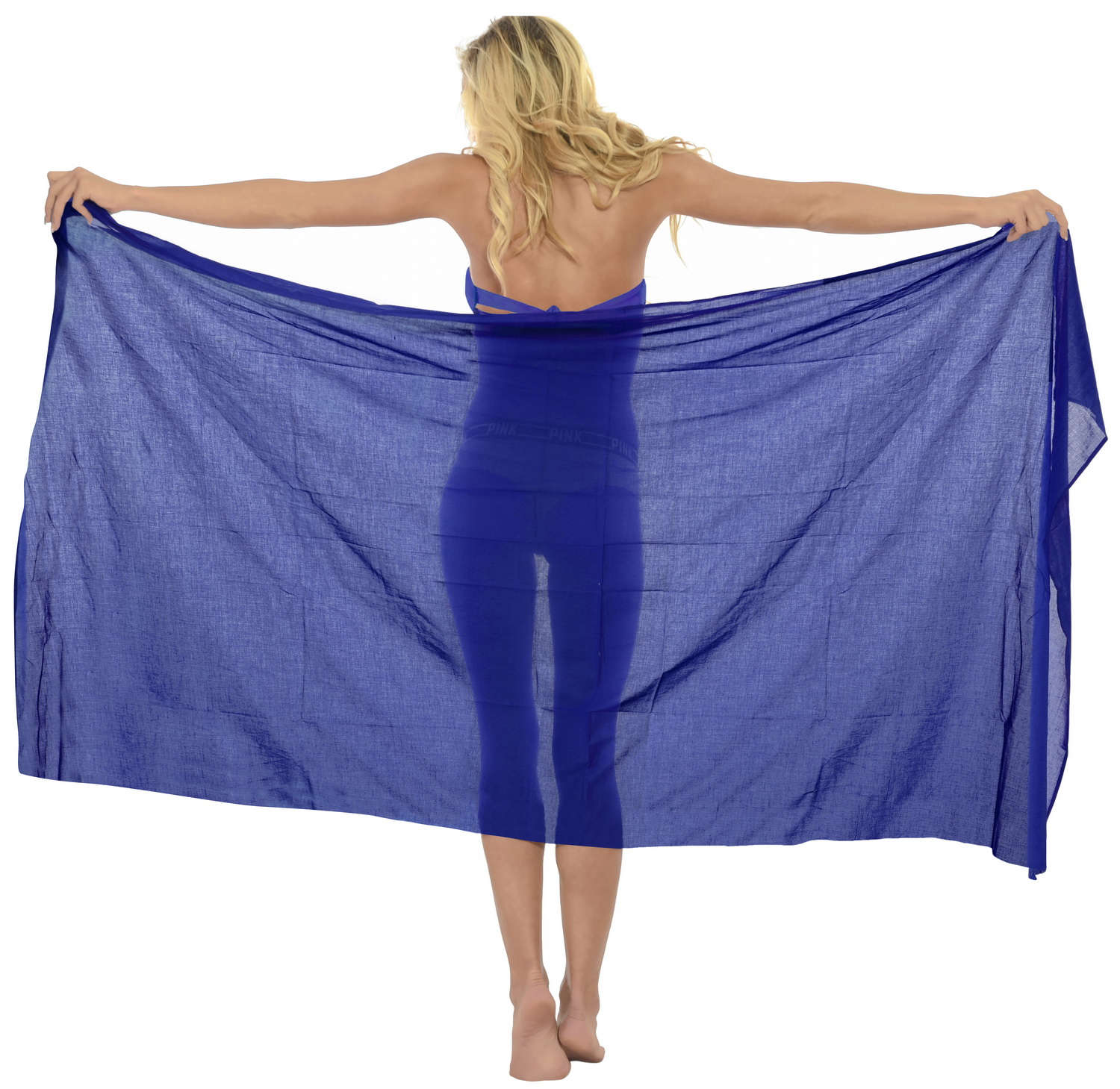 100% Cotton Women's Basic SWIMSUIT Bikini SWIMWEAR Beach Cover up Sarong US 2X