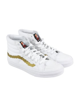 ab7ebb14e9 Product Image Vans Sk8 Hi Slim Mens White Canvas High Top Lace Up Sneakers  Shoes