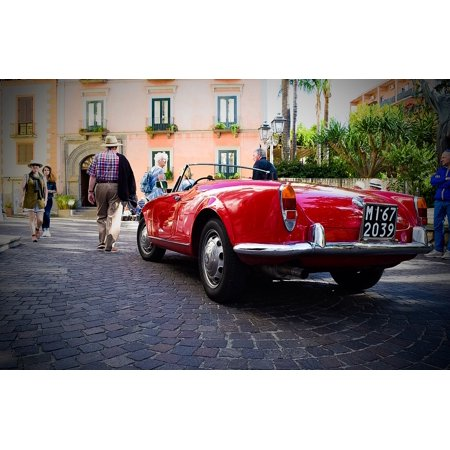 - Canvas Print Romeo Street Red Car Spider Alfa Stretched Canvas 32 x 24