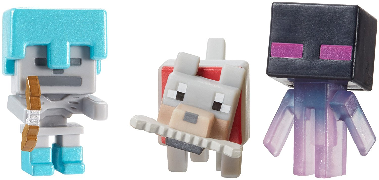 DPY68 Minecraft Mini-Figure, Pack of 3, This 3-pack collection includes Skeleton with... by