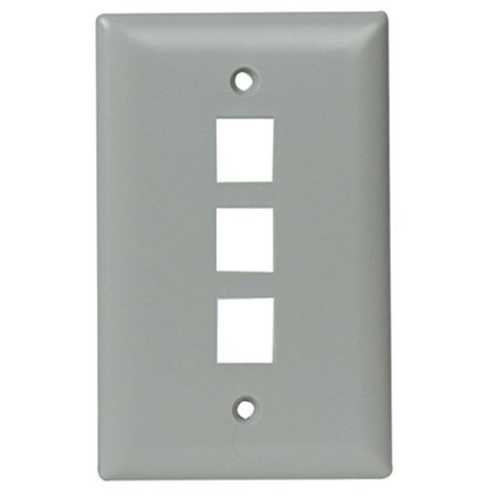 Contractor Single (legrand - on-q wp3403gy 3 port contractor single gang wall plate,)