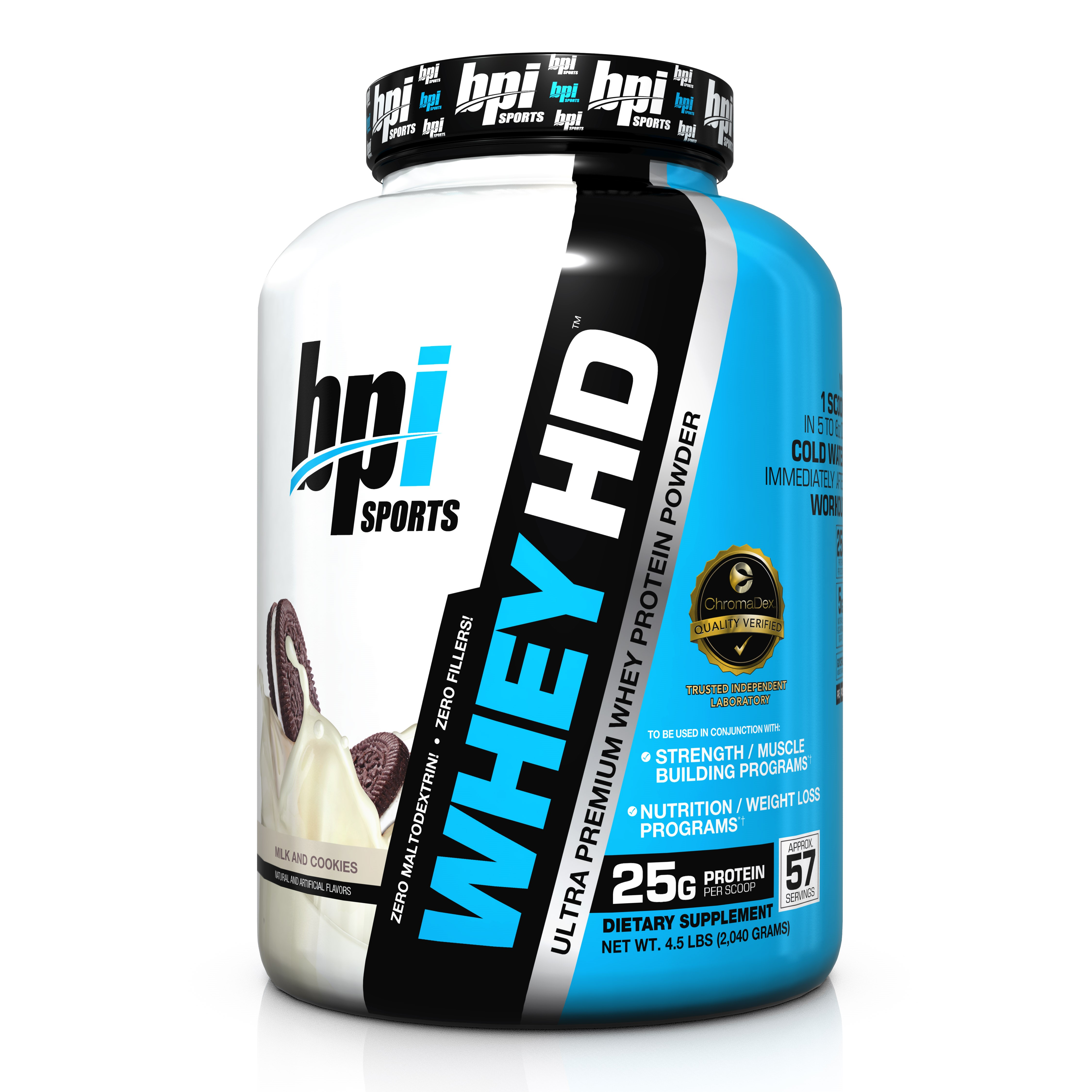 BPI Whey-HD, Milk and Cookies, 57 Servings