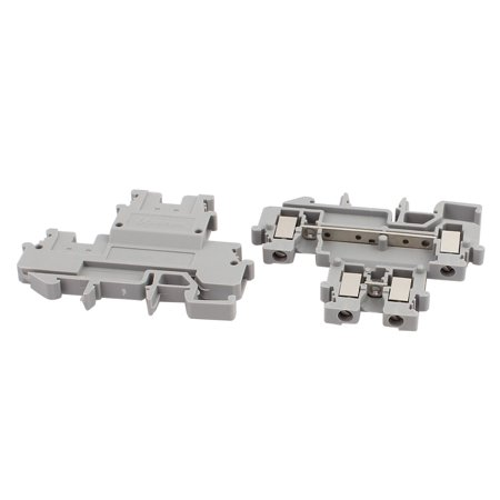 25Pcs MBKKB2 5 DIN Rail Mount Double-level Terminal Block 500V 2 5