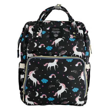 Unicorn Print Baby Diaper Bag Waterproof Large Capacity Mommy Backpack Baby Nappy Tote Bags - Mummy Accessories