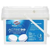 Clorox Pool and Spa Active 99 Three-Inch Chlorinating Tablets, 25 lbs
