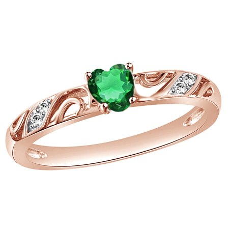 shaped ladies with and id white color fashion jewelry green halo right heart surrounded gem style genuine diamond emerald ring in by gold r hand