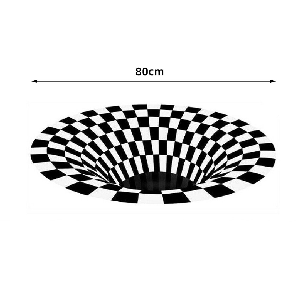 3D Printed  Illusion Plaid Door Mat Rug Black White Check Rugs Indoor Outdoor