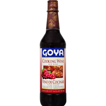 (2 Pack) Goya Cooking Wine Red Wine, 25.4 FL OZ](Mini Wine Bottle)