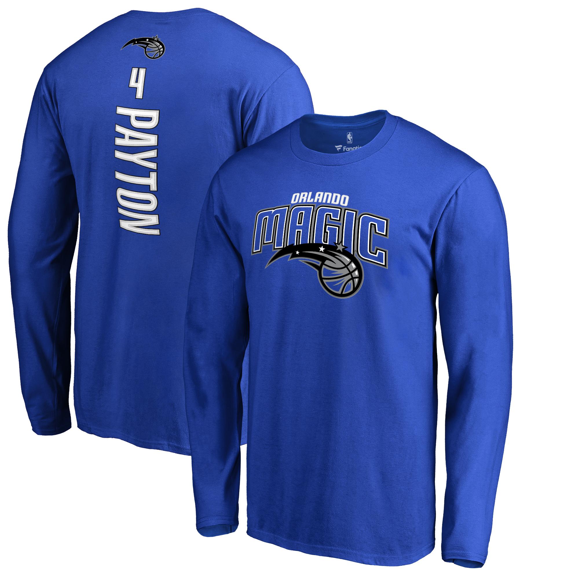Elfrid Payton Orlando Magic Fanatics Branded Backer Name & Number Long Sleeve T-Shirt - Blue