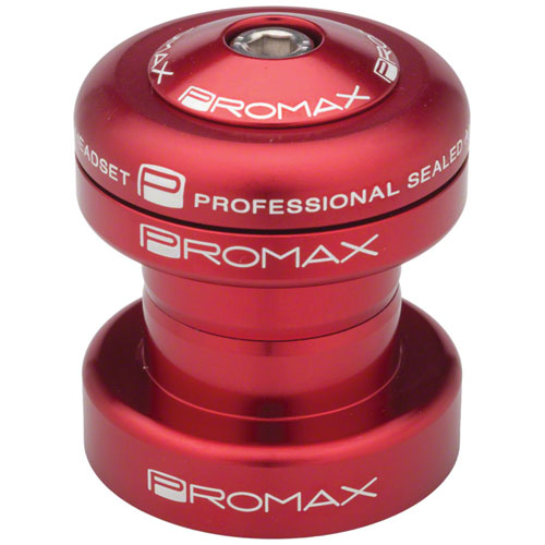 """Promax PI-1 Alloy Sealed Bearing 1"""" Press in Headset Red"""