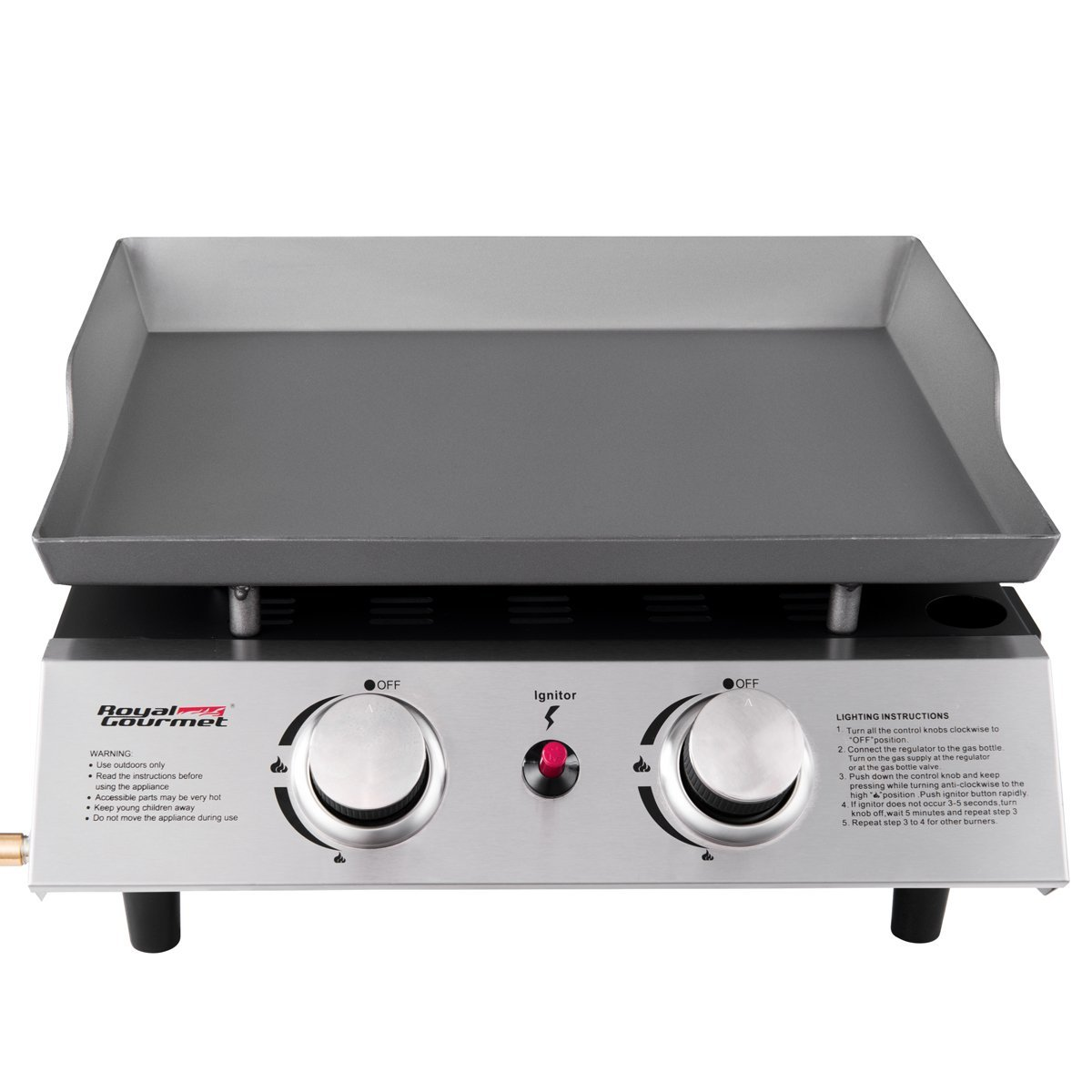 a3f9560f936 Royal Gourmet Table Top Portable 2 Burner Propane Gas Grill Griddle nbsp  -  Walmart.com