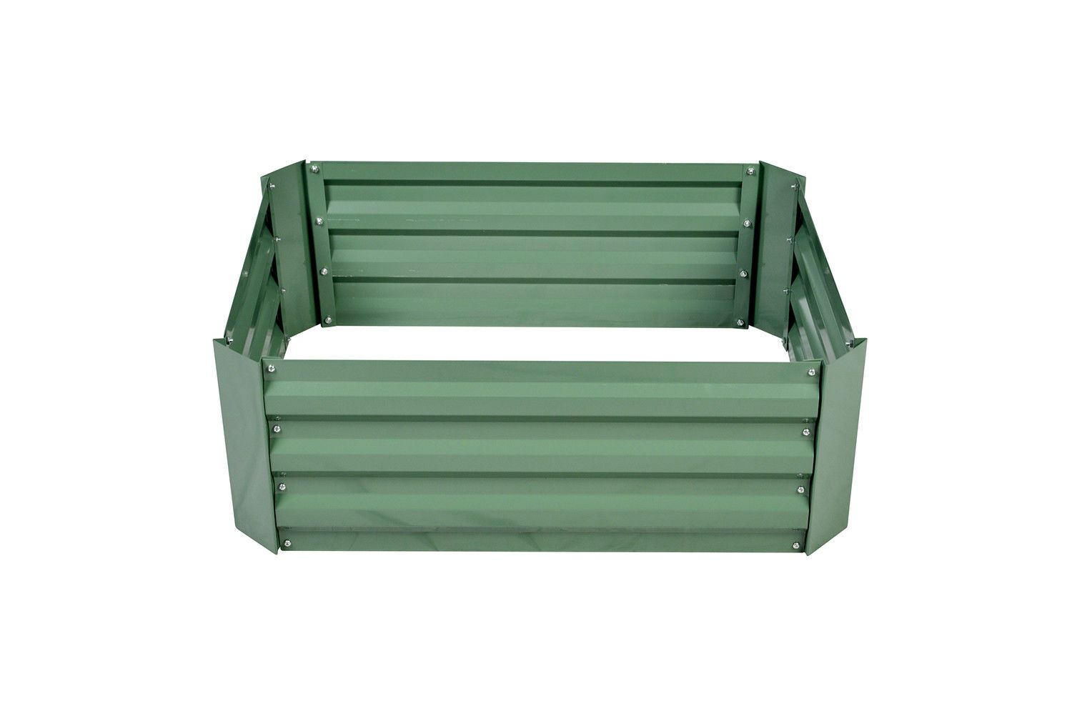 Galvanized Metal Raised Garden Bed Patio Vegetable Flower Planter Gardening by