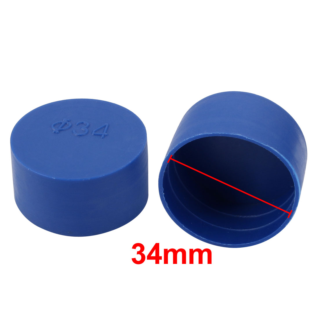 20pc 34mm Dia Interne PE Capuchon plastique protecteur filetage vis bleu Tube - image 1 de 2