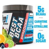 BPI Sports Best BCAA Shredded Powder, Fruit Punch, 25 Servings