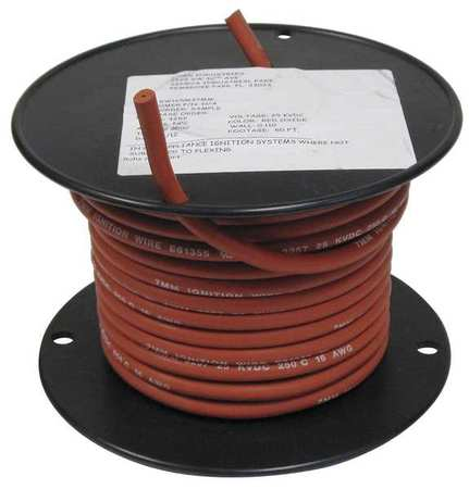 ROWE SW168M3050 Oxide Ignition Wire, Red, 16awg, 50ft