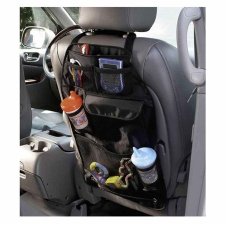 1 car back seat rear organizer pocket storage multi auto hanger travel bag black. Black Bedroom Furniture Sets. Home Design Ideas