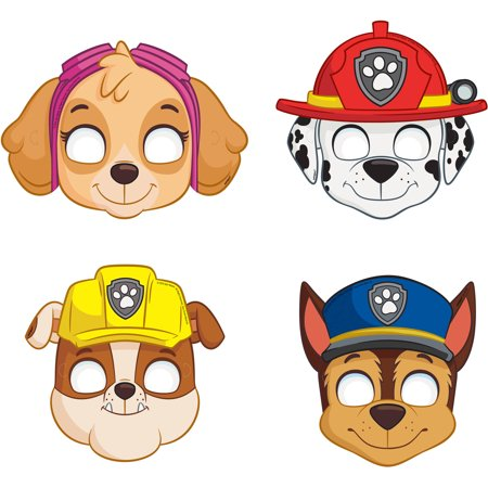 PAW Patrol Party Masks, 8ct - Paw Patrol Decorations